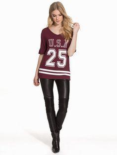 Nelly.com: USA Baseball Tee - New Look - nainen - Burgundy. Uutuuksia joka päivä. Yli 800 tuotemerkkiä. Rajatonta vaihtelua.