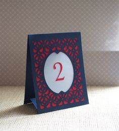Items similar to Wedding Table Cards / Table Numbers / Luminaries / Table Markers / Table Tent Style - Woven Style B CUSTOM COLORS on Etsy. , via Etsy.
