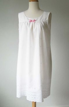 Adapt a simple dress pattern into a comfortable, pretty nightgown.