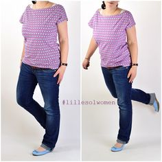 Schnittmuster / Ebook lillesol women No.4 Sommershirt / Nähen Shirt / Damen / Sewing pattern Shirt / Jersey