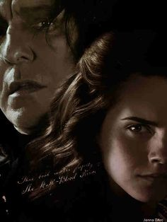 I just realized. Maybe Snape hated Hermione so much because she reminded him of Lily. Hermione was muggle-born, as was Lily. Hermione was known as the brightest witch of her age, as was Lily. Harry Potter Poster, Harry Potter Ships, Harry Potter Movies, Harry Potter World, Severus Snape, Severus Rogue, Hermione Granger, Snape And Hermione, Draco Malfoy