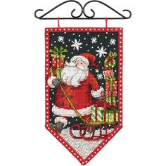 $8.80 5x8 Debbie Mumm Banner Counted Cross Stitch Kit. These needle kits are wonderfully detailed, with full and half cross stitches, and creates the perfect finished project! Finished size: 8x5 inches. Designer: Debbie Mumm. Design: Winter Banner.