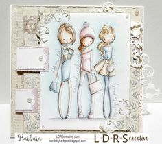 Hi everyone, today I'm sharing with you my new DT card made with LDRS All Dressed Up stamp called What's Your Style . Paper Art, Paper Crafts, What's Your Style, Digi Stamps, Card Tags, Little Darlings, Creative Cards, Birthday Cards, Tags Ideas
