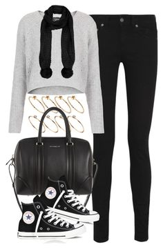 outfit for travelling by im-emma on Polyvore featuring polyvore, moda, style, Topshop, Yves Saint Laurent, Converse, Givenchy and ASOS