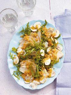 Raukesalat mit Hähnchen Rezept - [ESSEN UND TRINKEN]