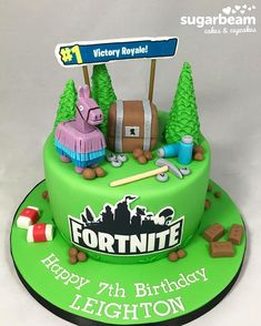 Another fantastic Fortnite cake!! #fortnite #fortnitecake #ps4cake #xboxcake #gamecake #gamerscake #kidscake #childrenscake #cake #cakes…