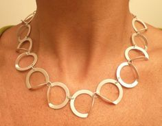 D necklace by metalnat on Etsy