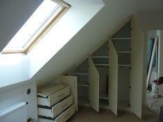 Möbler under ramp - Möbler under ramp - Attic Master Bedroom, Attic Bedrooms, Bedroom Loft, Home Bedroom, Wardrobe Closet, Closet Space, Loft Storage, Attic Conversion, Home Organisation