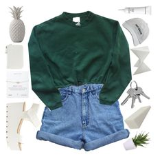 """""""-- i'm scared of my own head."""" by c-astaway ❤ liked on Polyvore featuring Bill Blass, adidas, Nine West, Lux-Art Silks, Somette, Bloomingville and Elizabeth Arden"""