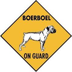 Boerboel On Guard Dog Aluminum Sign SignsWithAnAttitude https://www.amazon.com/dp/B00DTO1GDO/ref=cm_sw_r_pi_dp_x_3KCMyb5Q3TV48