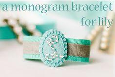 DIY monogram bracelet, so pretty!