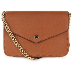 Michael Kors Women's Jet Set Luggage Tan Leather Shoulder Bag ($235) ❤ liked on Polyvore