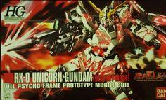 Bandai HGUC Series 1/144 Scale RX-0 Unicorn Gundam ( Destroy Mode ). #Bandai