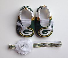 Green Bay Packers Baby Maryjane Booties by saluna on Etsy, $17.99