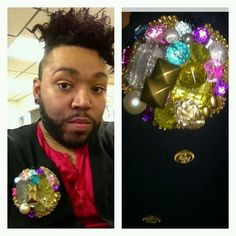 Macray from reality show Chicagolicous on style network rocking one of my custom BOLD EXTREME BUTTON pin