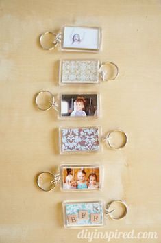 Modpodgeable DIY Photo Key Chains - http://www.diyinspired.com/modpodgeable-diy-photo-key-chains/ #diyinspireddotcom