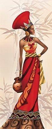 This Pin was discovered by Ꮹɑɓ Black Girl Art, Black Women Art, Art Girl, African Beauty, African Women, African Fashion, Des Femmes D Gitanes, Afrique Art, African Quilts