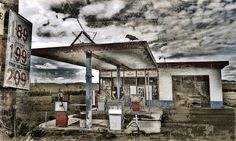 """""""Thank You For Your Business""""  A deserted gas station located on Hwy 6 between Price and Green River, UT."""