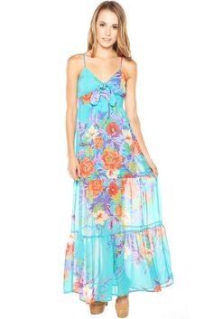 Beautiful Long Floral Maxi Dress. I could live in dresses like this