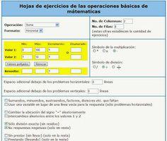http://lacasetaespecial.blogspot.com.es/2013/07/generador-d-matematiques.html   La Caseta, un lloc especial: Generador de fitxes matemàtiques