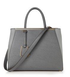 Handtasche '2Jours Small' Grau von Fendi bei UNGER-FASHION.com