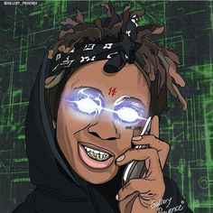 Dope Cartoon Art, Dope Cartoons, Savage Wallpapers, Trap Art, Ghost Rider Marvel, Black Anime Characters, Rapper Art, Trippie Redd, Hip Hop Art