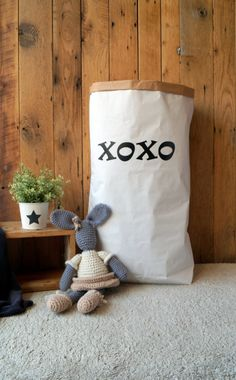 Check out this item in my Etsy shop https://www.etsy.com/uk/listing/252423571/xoxo-personalised-toy-bag-paper-storage