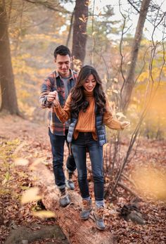 His & Hers Style // Fall Layers + Waterproof Boots
