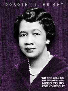 Dorothy I. Height #BlackHistoryMonth Tribute Design (2/28/12)