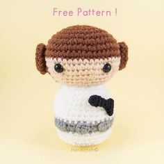 Princess Leia Amigurumi Pattern (Free) ~ Snacksies Handicraft Corner