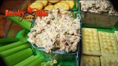 Smoked Tuna Dip Recipe ~ Football Party Appetizer -- Watch Smoky Ribs create this delicious recipe at http://myrecipepicks.com/76/SmokyRibs/smoked-tuna-dip-recipe-football-party-appetizer/