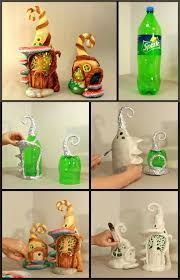 Fairy houses made from bottles. #DIY YouTube video (In Spanish)