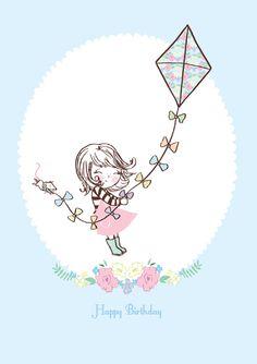 RRDD04 'Happy Birthday' Greeting Card, £2.50 Happy Birthday Doodles, Happy Birthday Greeting Card, Cartoon Drawings, Cute Drawings, Happy Birthday Illustration, Birthday Congratulations, Birthday Card Sayings, Cute Anime Chibi, Happy Art