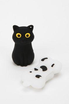 Black Kitty USB Flash Drive