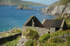 Ancient famine house on Dingle Peninsula Historical Fiction, Folklore, Places Ive Been, Irish, Landscapes, Fire, Water, House, Outdoor