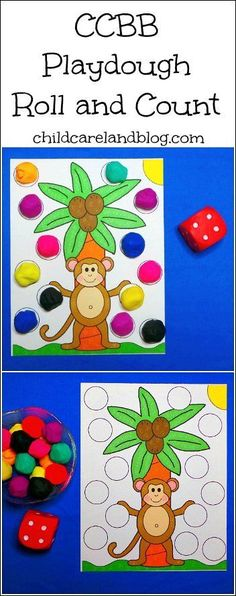 CCBB Playdough Roll and Count - love this for math and fine motor.