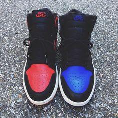 Nike Air Jordan Red and Blue Blue Jordans, Nike Air Jordans, Nike Air Max, Nike Free Shoes, Nike Shoes Outlet, Jordan Outfits, Jordan Shoes, Jordan 1 Royal, Jordan 11