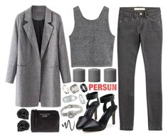 """Mrs.Grey"" by ruska-10 ❤ liked on Polyvore featuring mode, Just Acces, Burberry, Acne Studios en L'Oréal Paris"