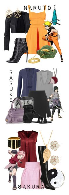 """Team Seven from Naruto"" by laniocracy on Polyvore featuring Narciso Rodriguez, Miss Selfridge, Yves Saint Laurent, maurices, MANGO, Topshop, Betty Jackson, Valentino, AllSaints and Alexander McQueen"