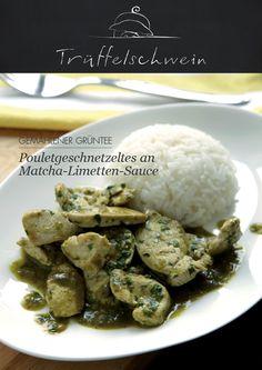 Poulet an Matcha-Sauce