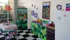 This Eclectic Kitchen is Completely Knitted and Crocheted Out of Yarn - My Modern Met