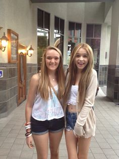 With my bestie Hannah! At the mall. -Skylar