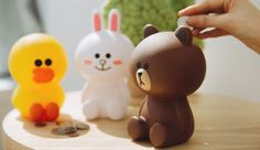 "6"" Line Friends Coin Bank (3 Types) Brown Cony Sally PVC Desk Kid Save Figure #LineFriendsCoinBank"