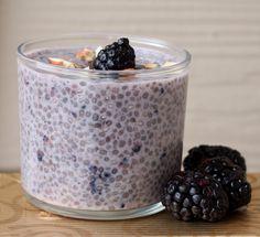Blackberry Almond Chia Pudding - Vegan, Gluten-Free Breakfast on the Go.
