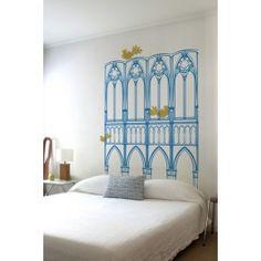 Blik Wall Decals: Mid-Century Gothic Savannah inspired headboard decal by Working Class Studio (source: whatisblik.com)