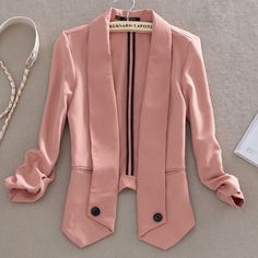 Celebrity Style Candy Color Lapel Womens Ladies Blazer Suit Coat Jacket Top SML14.99?????!!!!! WHAT?!