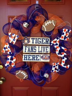 My first wreath to ever make!  I love my Auburn Tigers!