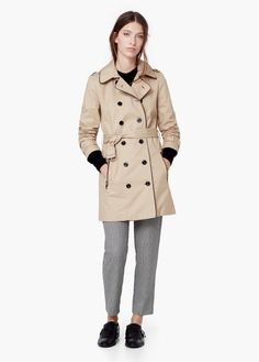 Cotton-blend trench coat   MANGO