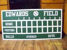 DIY baseball scoreboard.  A wonderful homemade gift for any baseball lover..