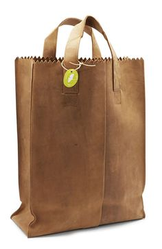 Leather paper bag, I'd love to see one in veggie based leather. (via Ethical Ocean)